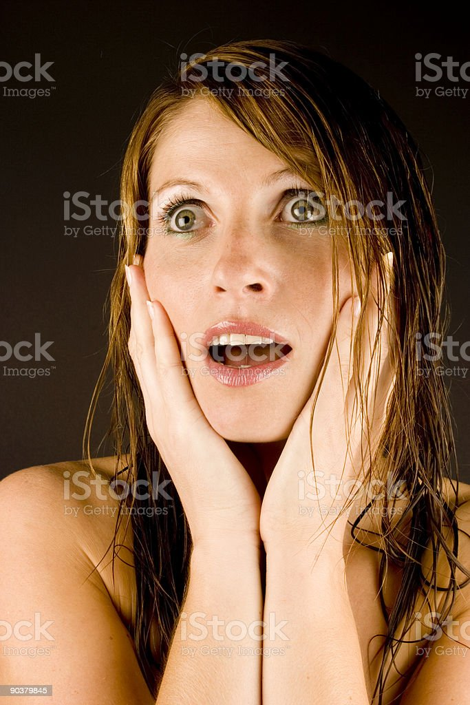 Young woman with wet hair royalty-free stock photo