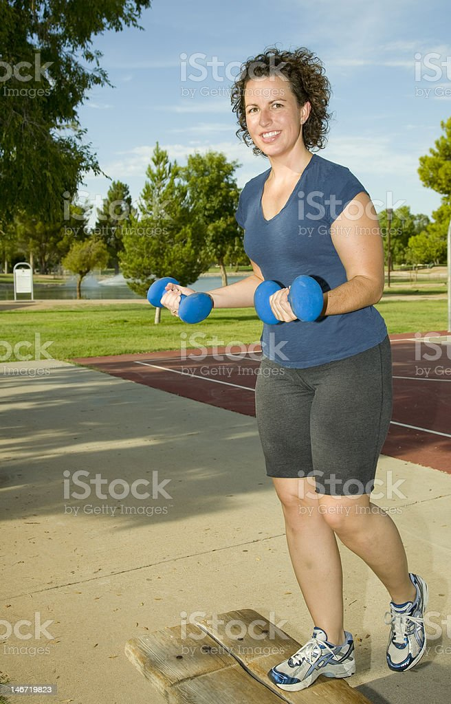Young woman Working Out stock photo