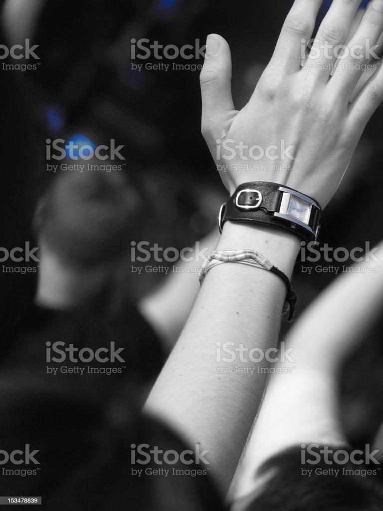 Young woman worshiping royalty-free stock photo
