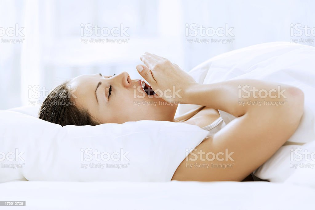 Young woman yawning. royalty-free stock photo