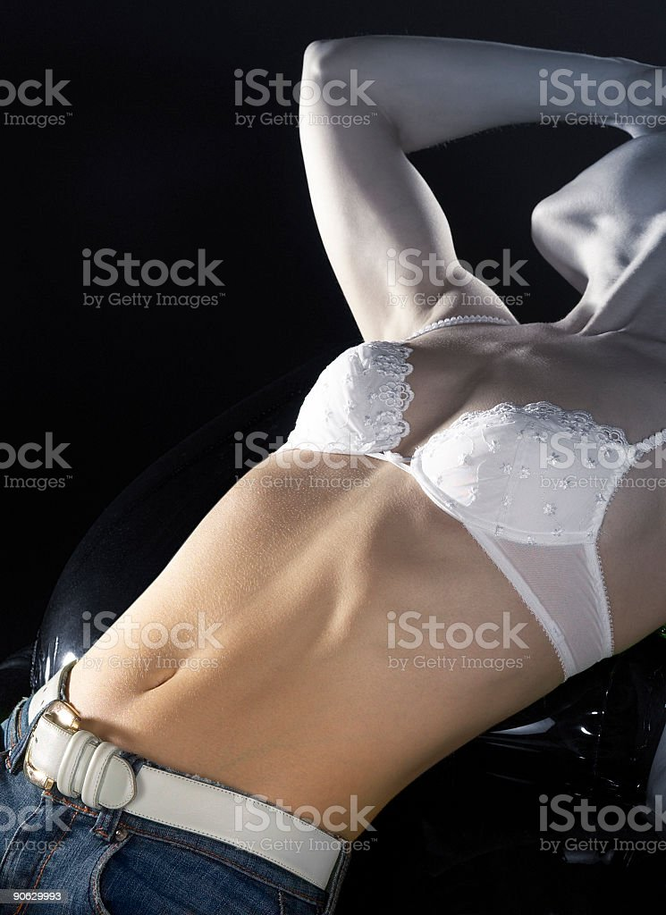 young woman´s beautiful belly royalty-free stock photo