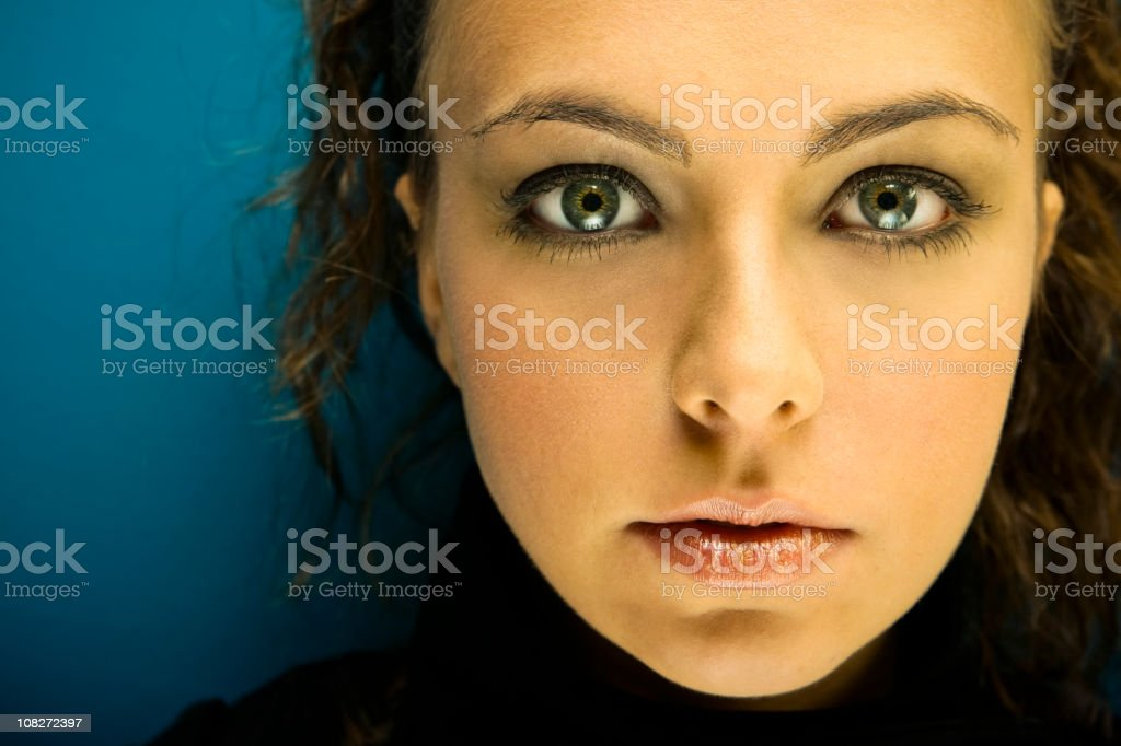 Young Woman's Face, Portrait royalty-free stock photo