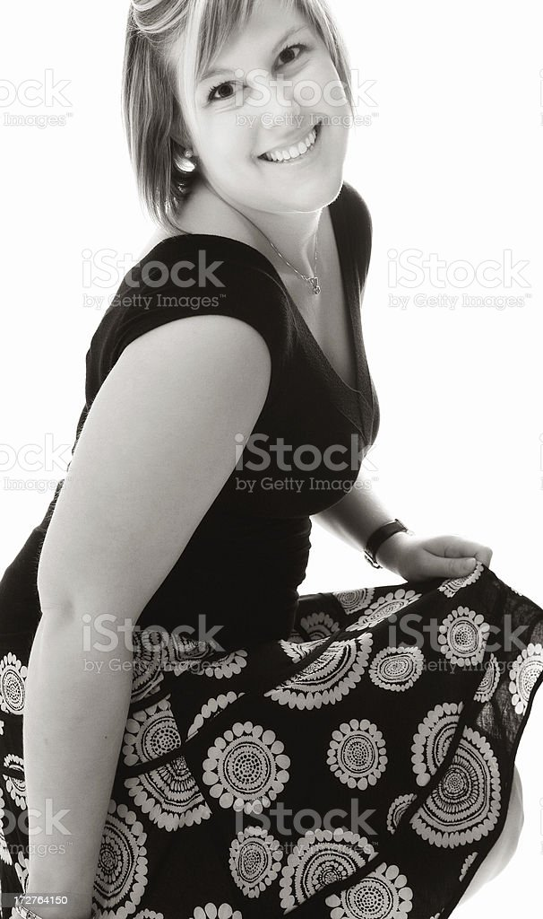 Young woman's fashion royalty-free stock photo