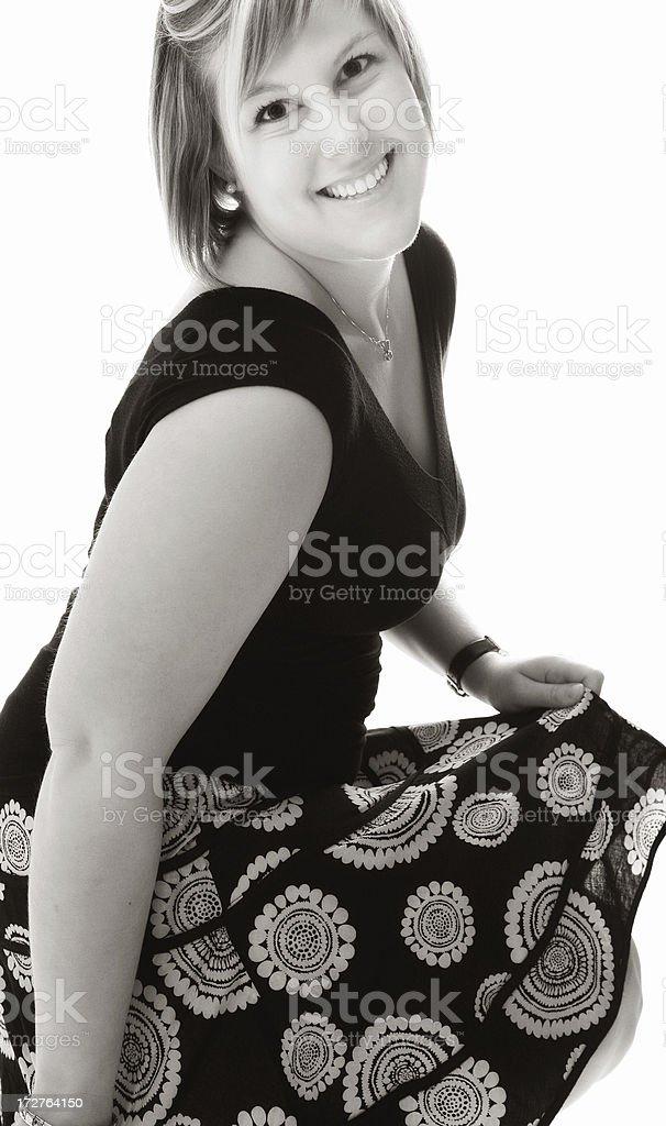 Young woman's fashion stock photo