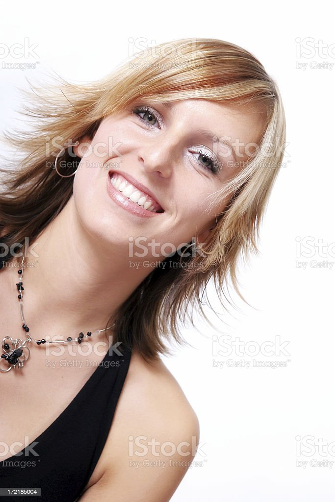 Young woman's happiness royalty-free stock photo