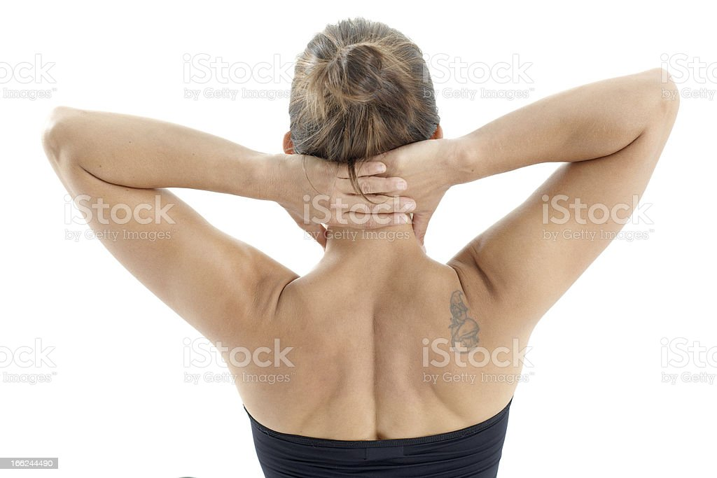 Young woman's neck and back royalty-free stock photo