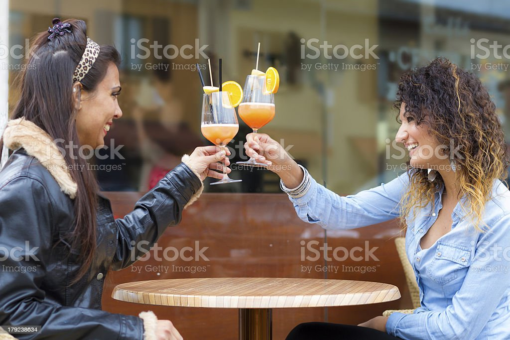 Young women at bar royalty-free stock photo