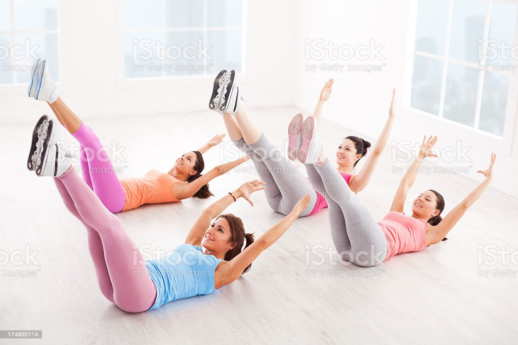 Young Women Exercising stock photo