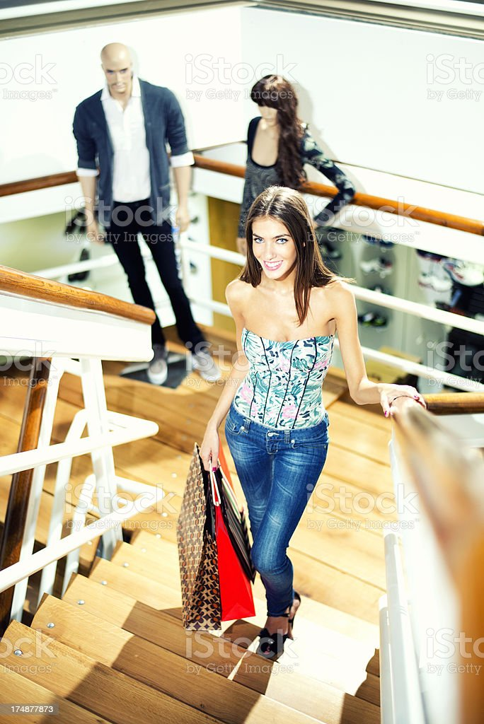 Young Women in shopping mall royalty-free stock photo