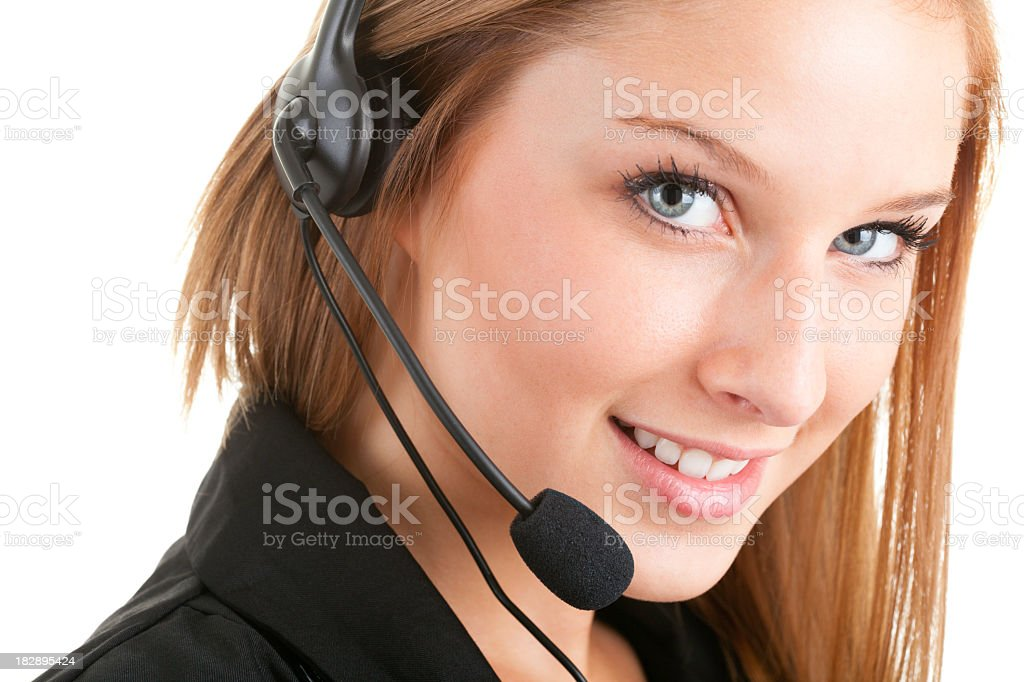 Young Women Receptionist Beautiful Eye royalty-free stock photo