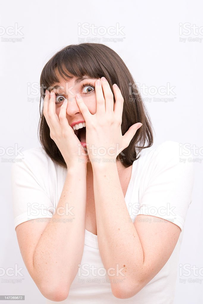 young women scared royalty-free stock photo