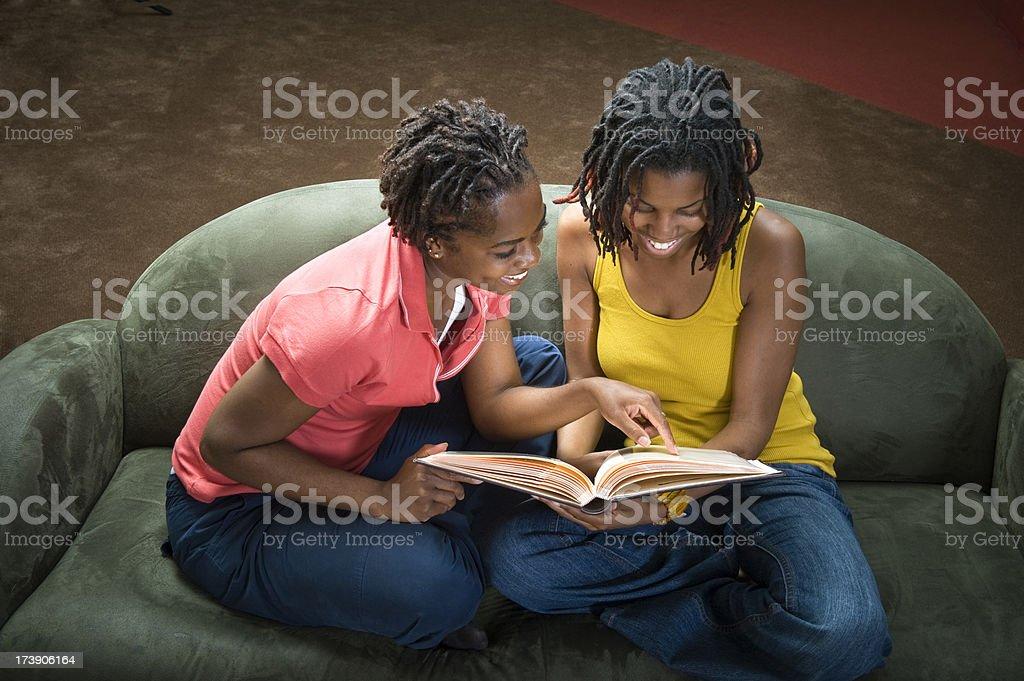Young Women Sharing Memories royalty-free stock photo