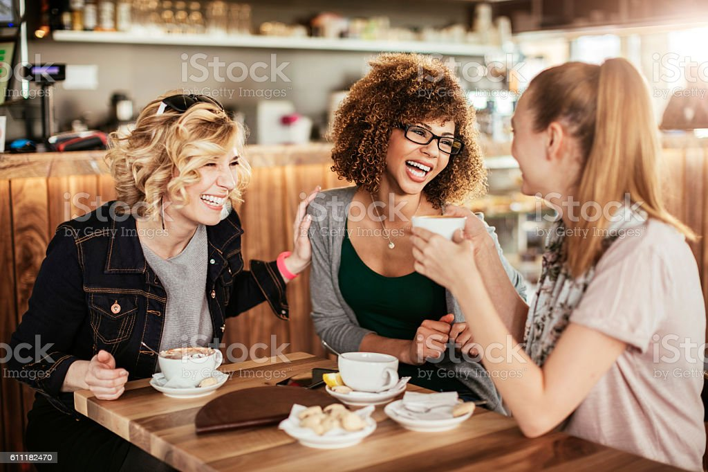 Young women using smart phone stock photo