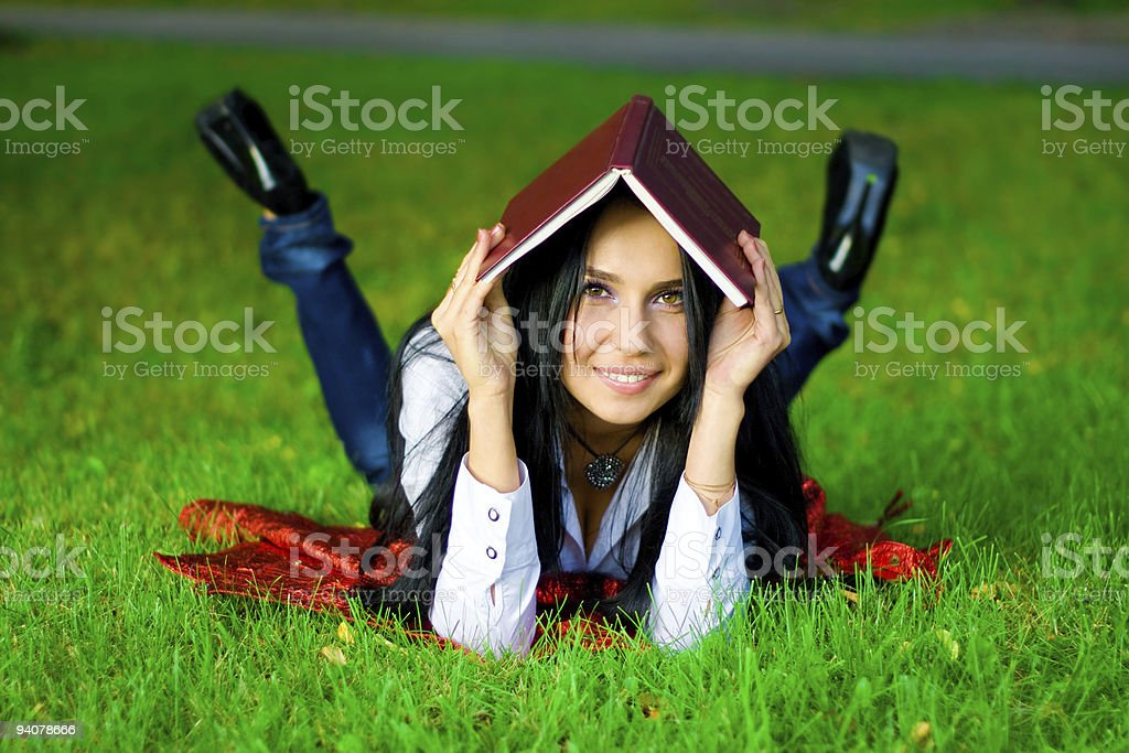 young women with book royalty-free stock photo