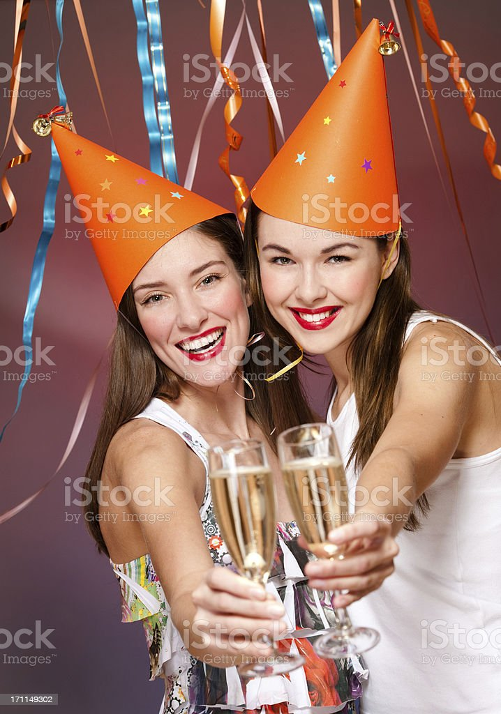 young women with  champagne royalty-free stock photo