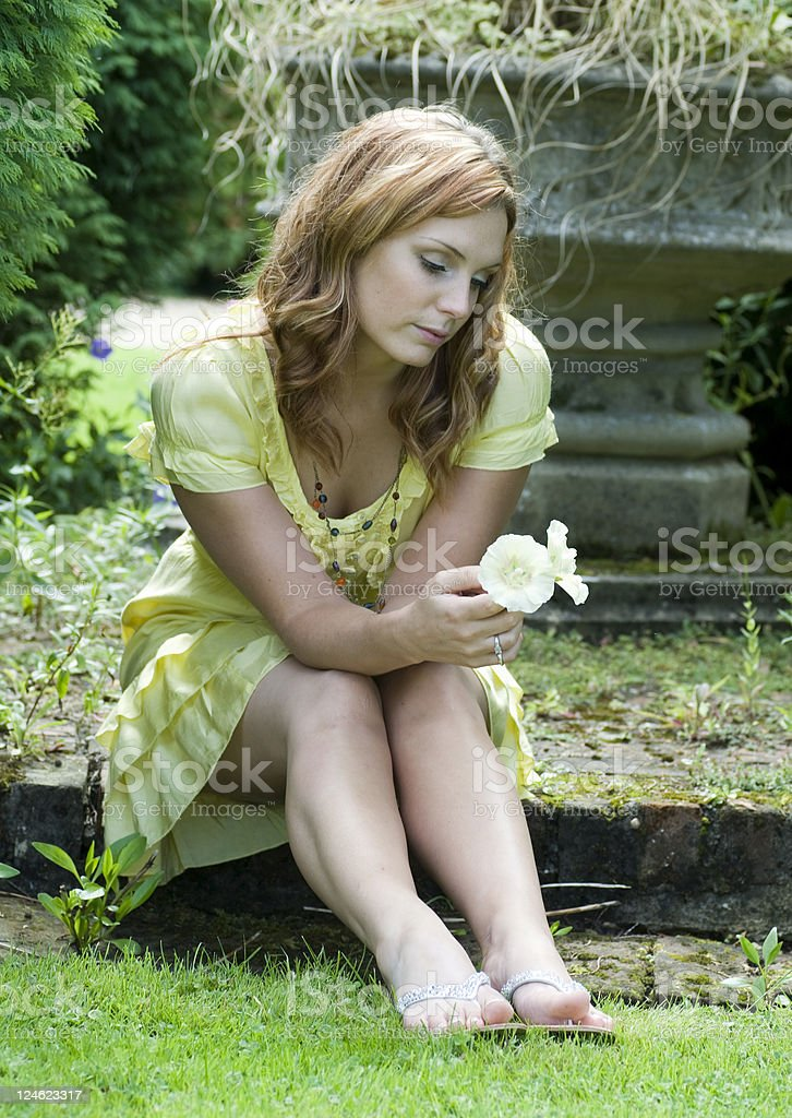 Young Women with flower royalty-free stock photo