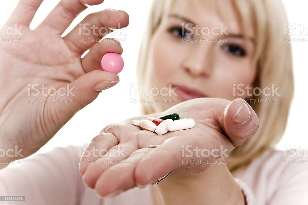 Young women with tablets in hand royalty-free stock photo