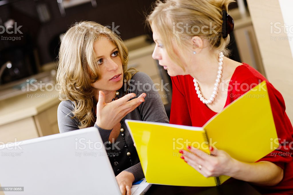 Young Women working using laptop royalty-free stock photo
