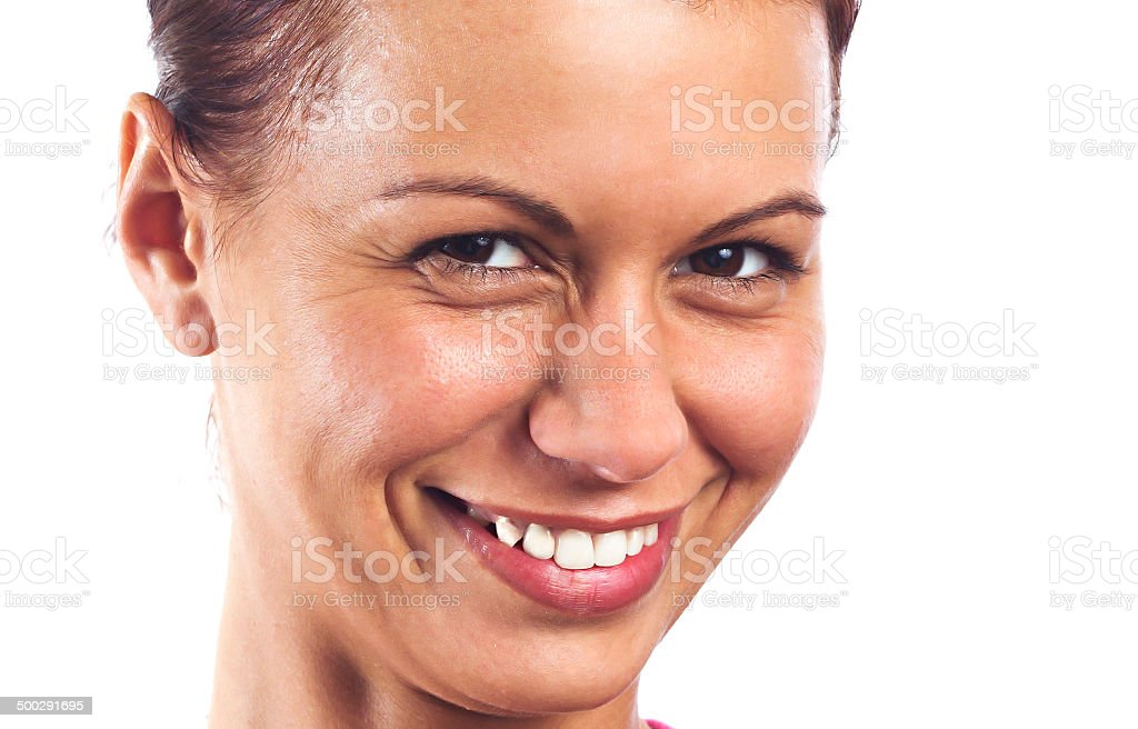 Young women's face royalty-free stock photo