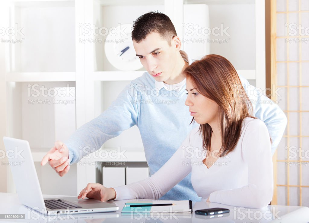 Young work colleagues stock photo