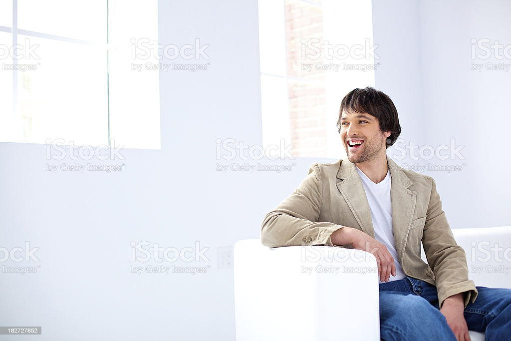 young worker smiling royalty-free stock photo