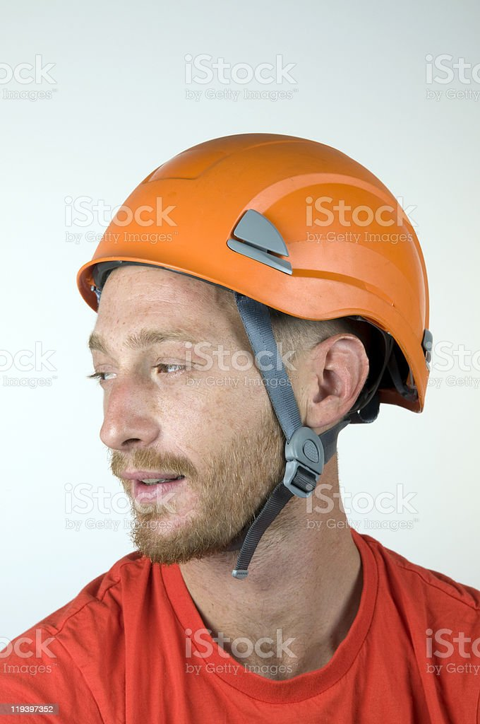 Young Worker With Safety Helmet royalty-free stock photo