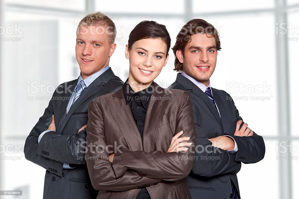Young workgroup royalty-free stock photo