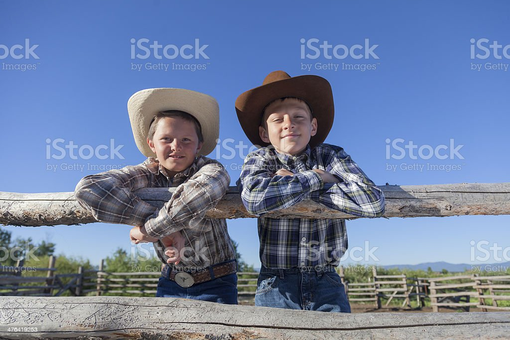 Young Wranglers royalty-free stock photo