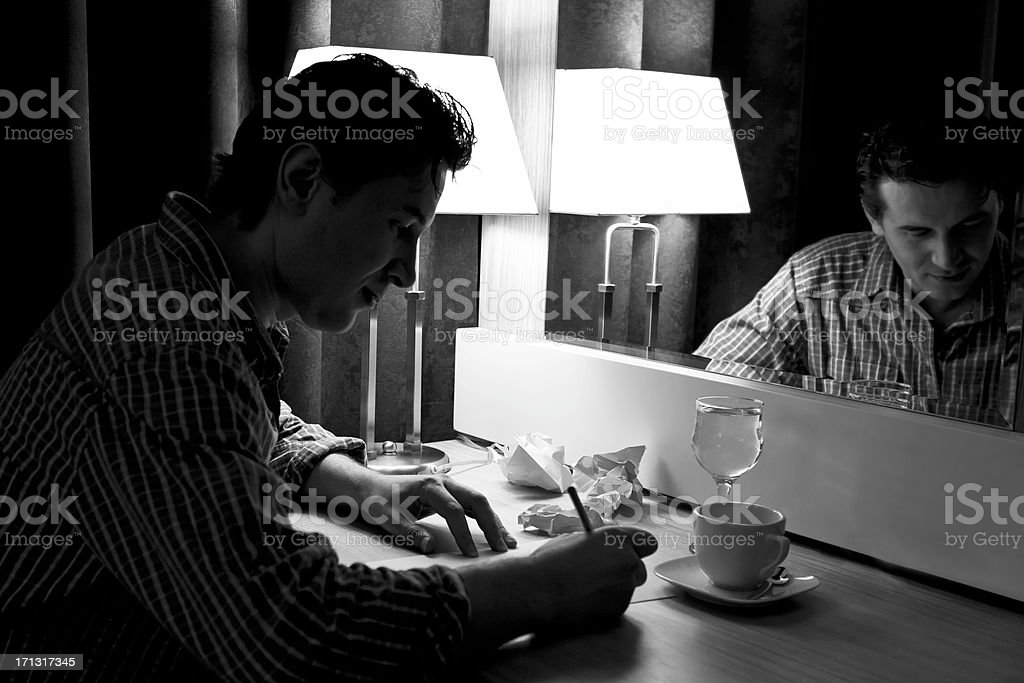 Young writer royalty-free stock photo