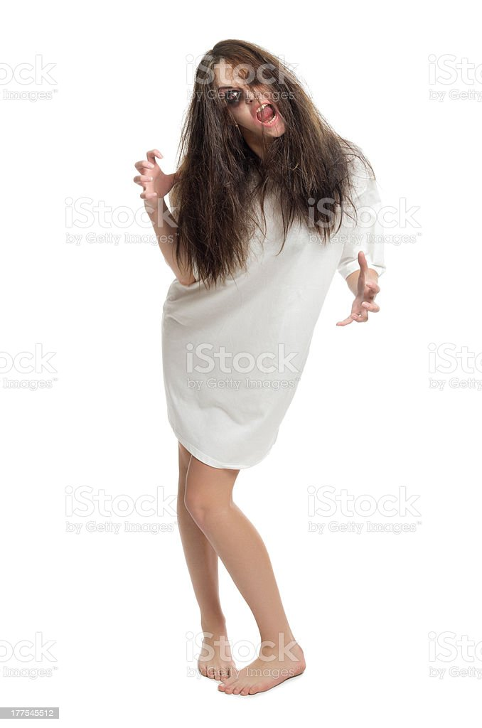 Young zombie girl isolated royalty-free stock photo