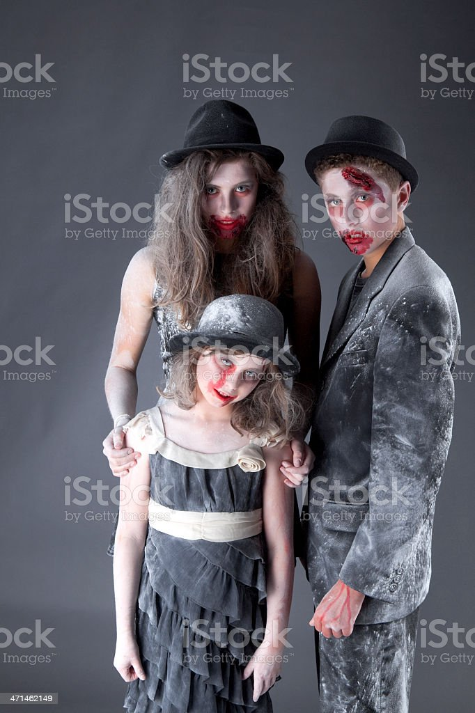 Young Zombies stock photo