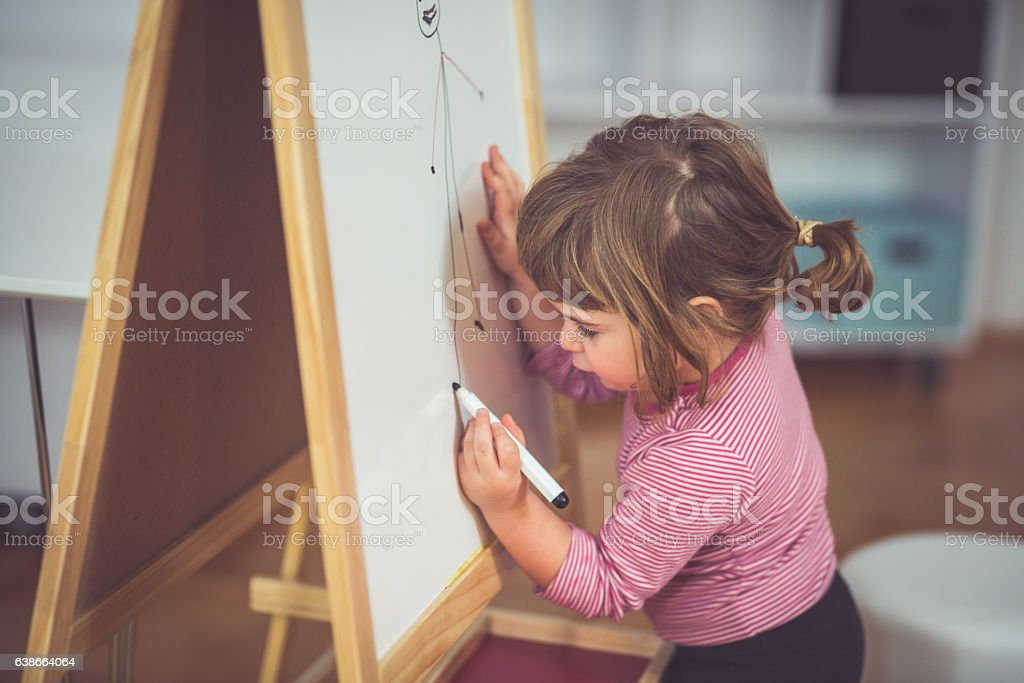 Youngest artist stock photo