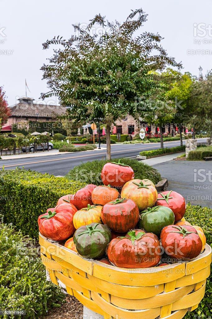 Yountville Public Art Walk, California, USA stock photo