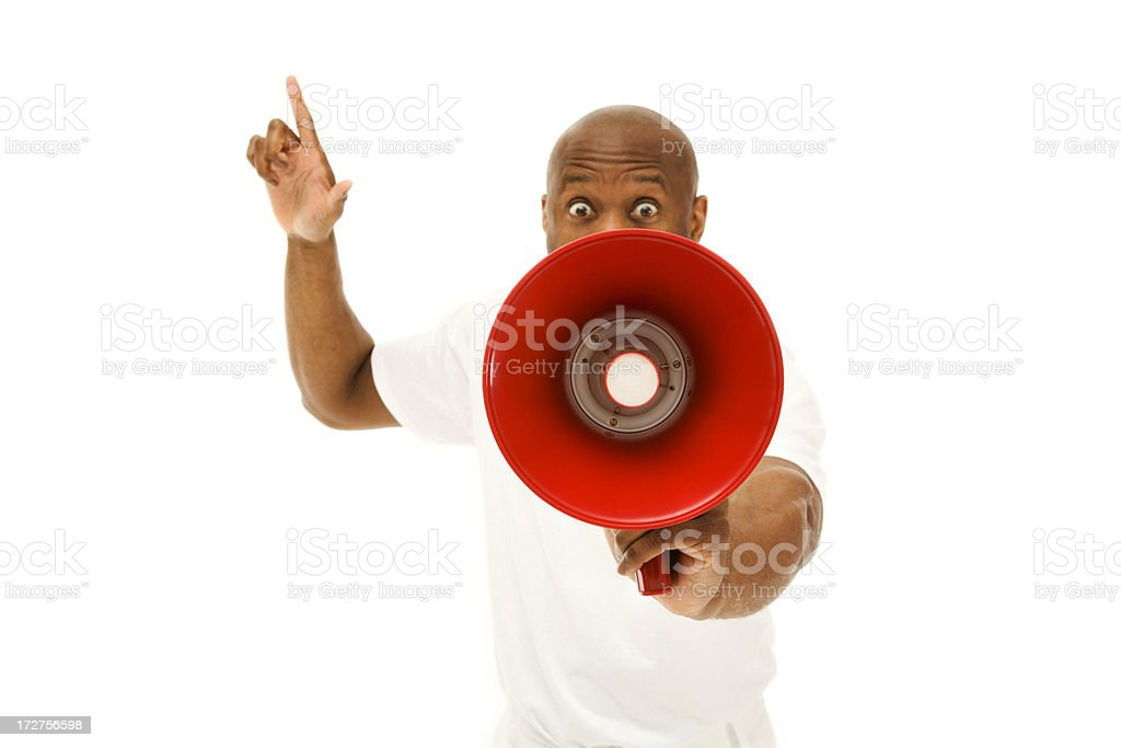 Your Attention Please! royalty-free stock photo