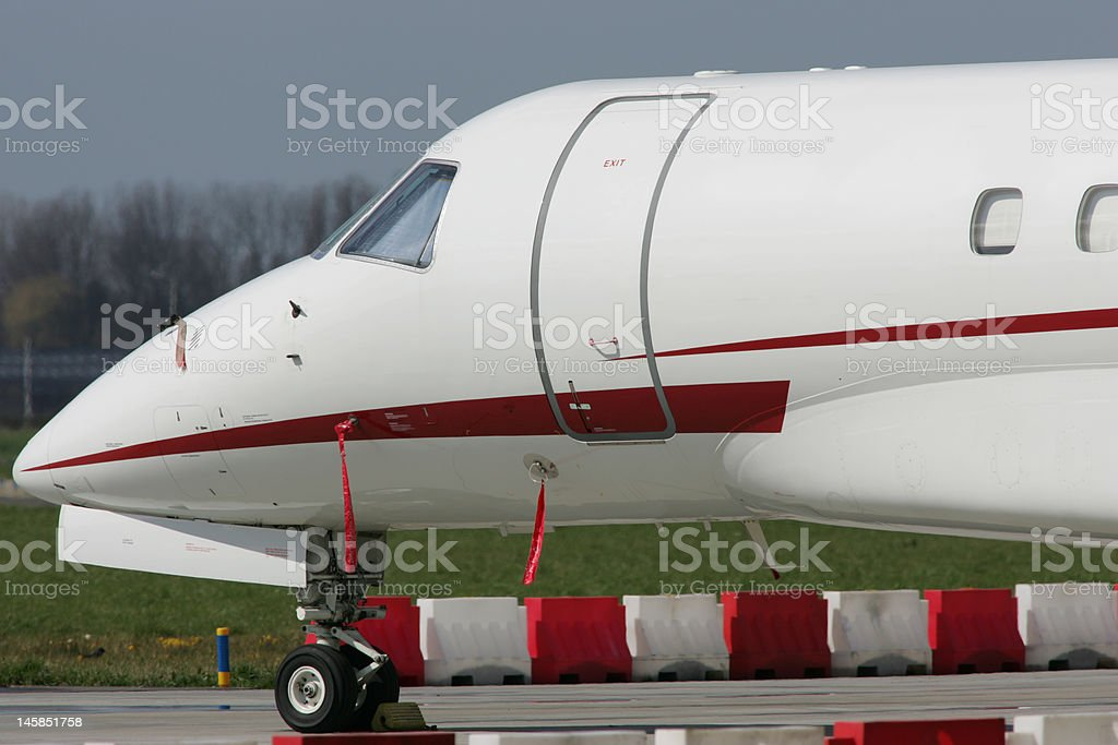 Your business jet is waiting royalty-free stock photo