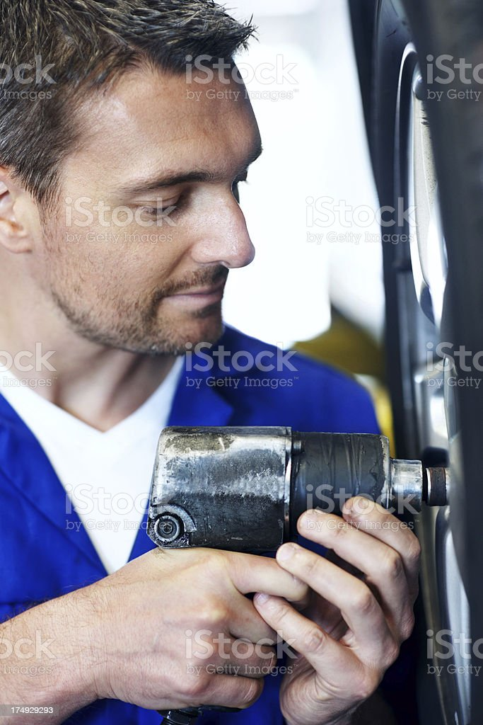 Your car gets his full attention! royalty-free stock photo