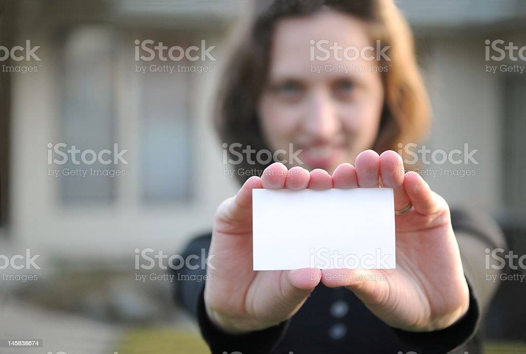 Your Card Here royalty-free stock photo