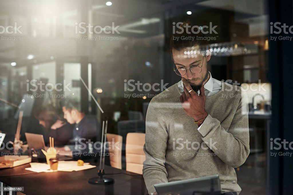 Your design is his number one priority stock photo