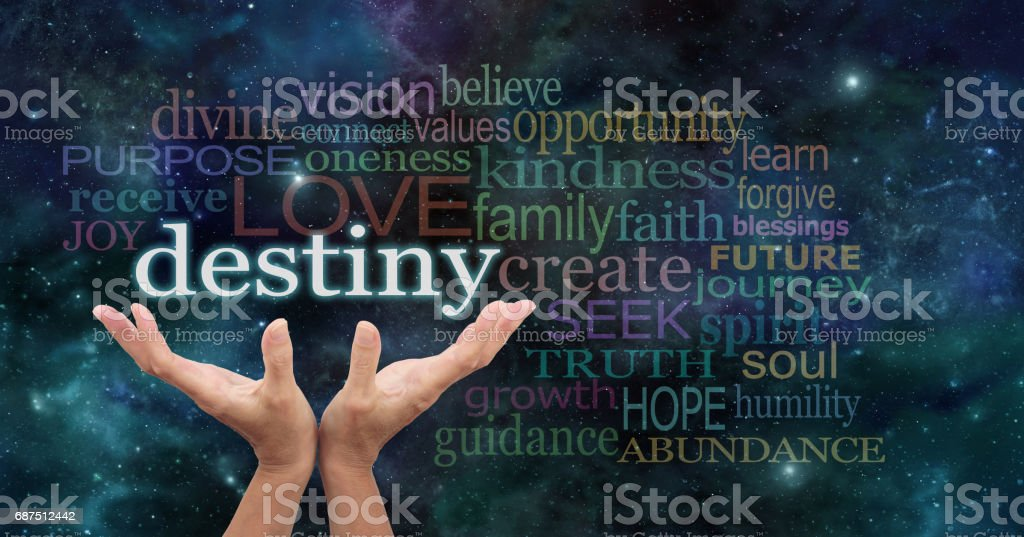 Your Destiny is in Your Hands stock photo