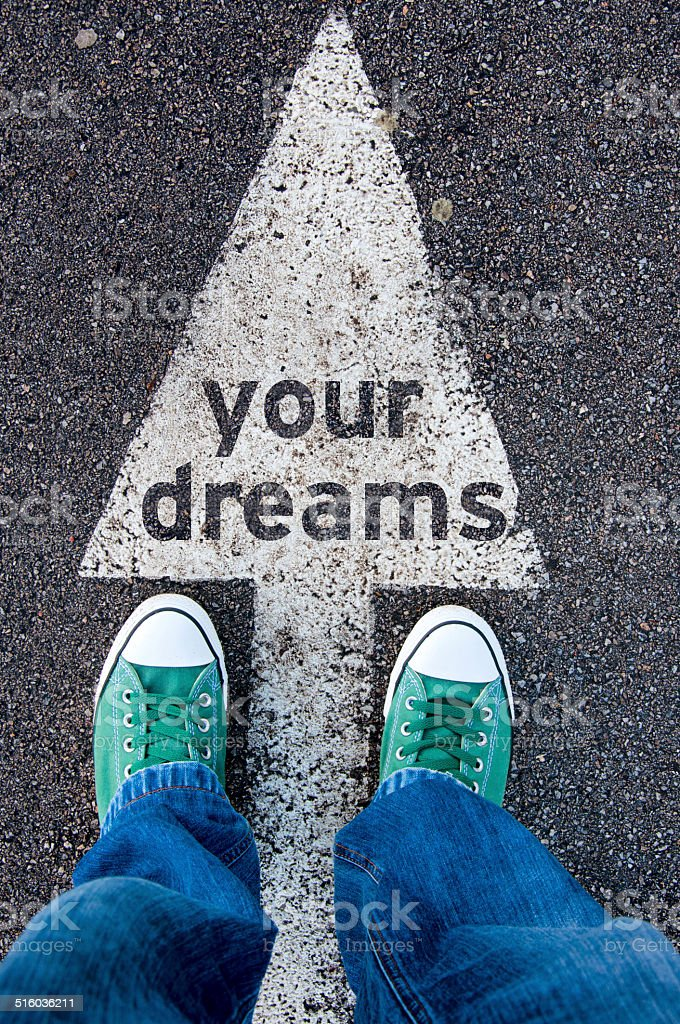 Your dreams stock photo