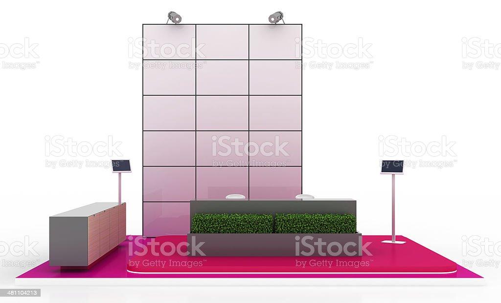 Your Elegant Blank Kiosk stock photo