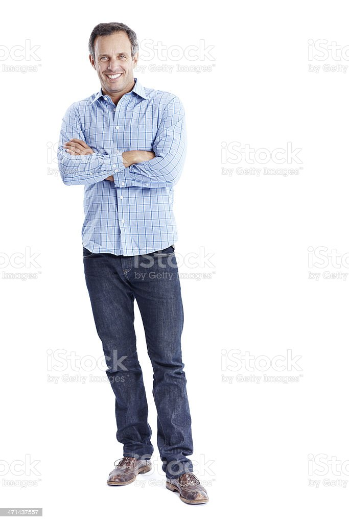 Your everyday casual & confident modern man! stock photo