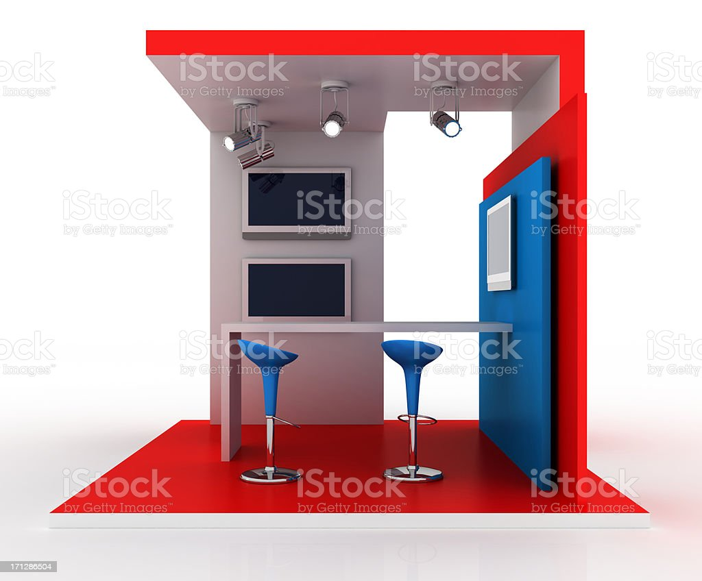 Your exhibition stand stock photo