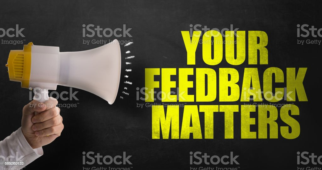 Your Feedback Matters stock photo