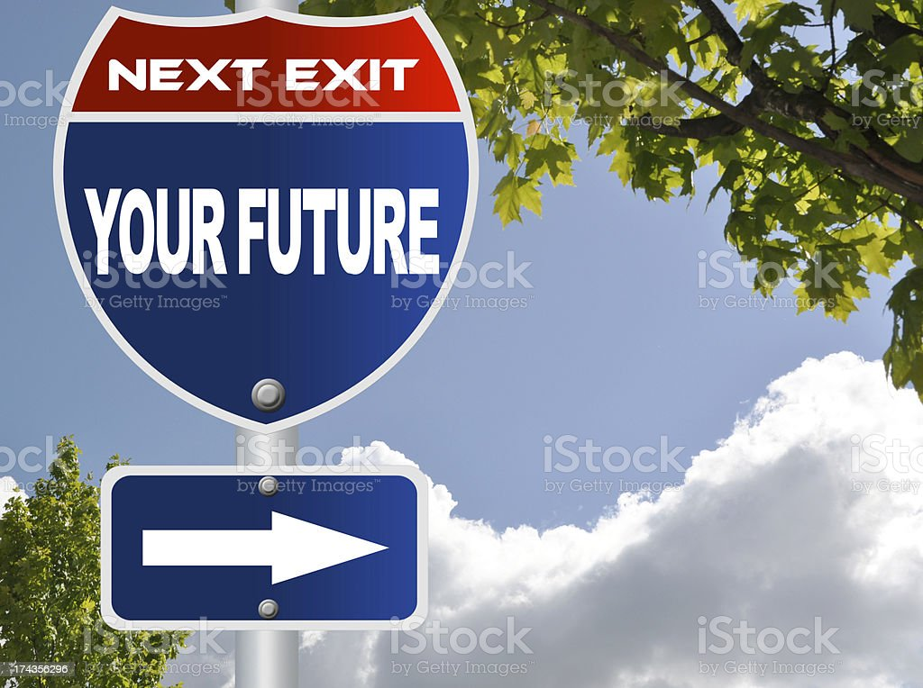 Your future road sign royalty-free stock photo
