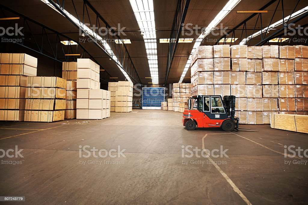Your goods will be in a safe place stock photo
