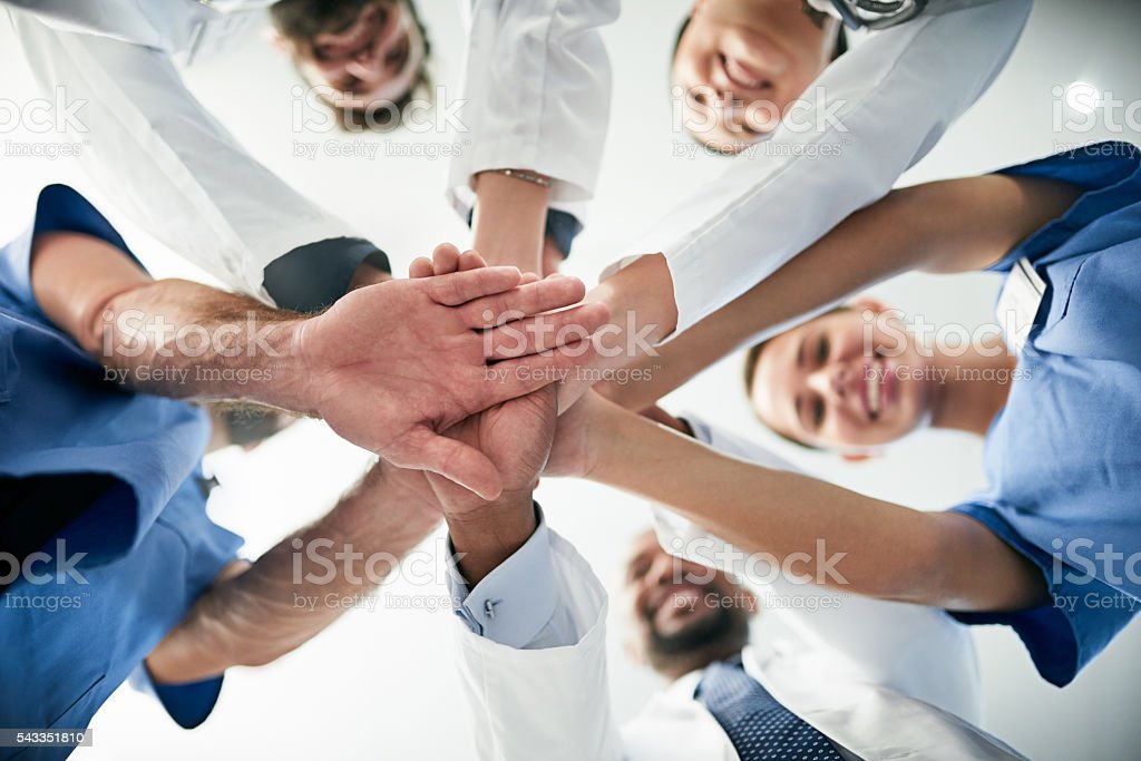Your health in our hands stock photo