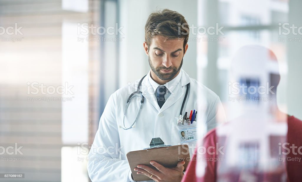 Your health is of the utmost importance stock photo