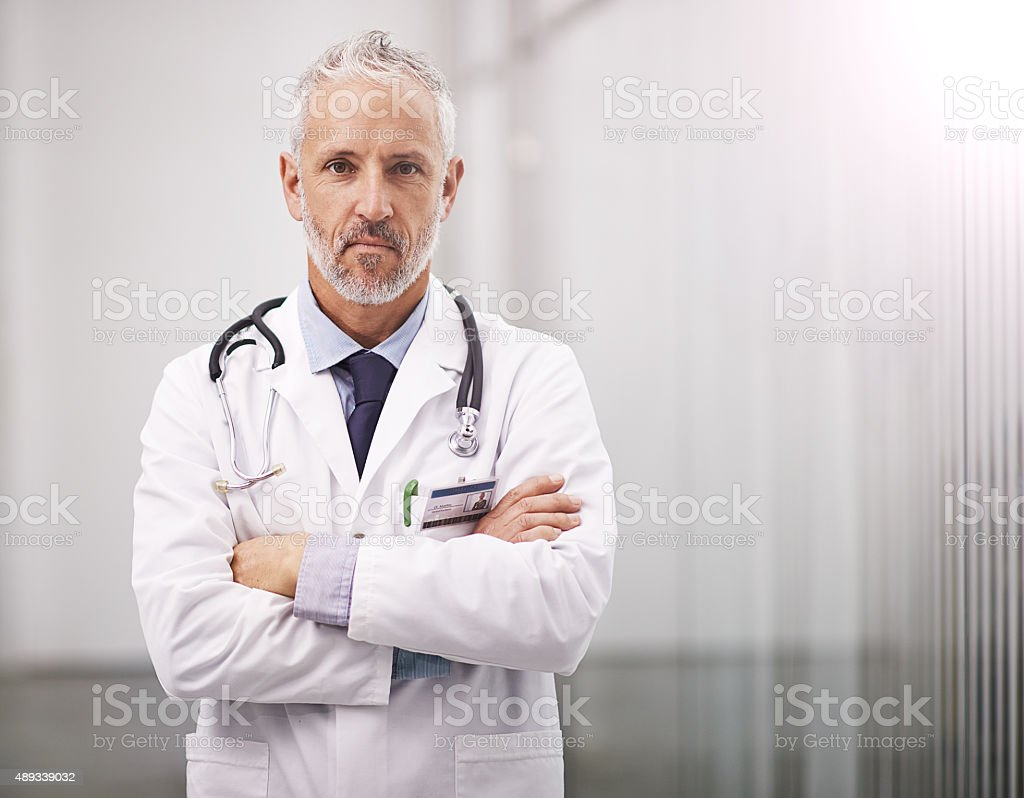 Your health is what I work for stock photo