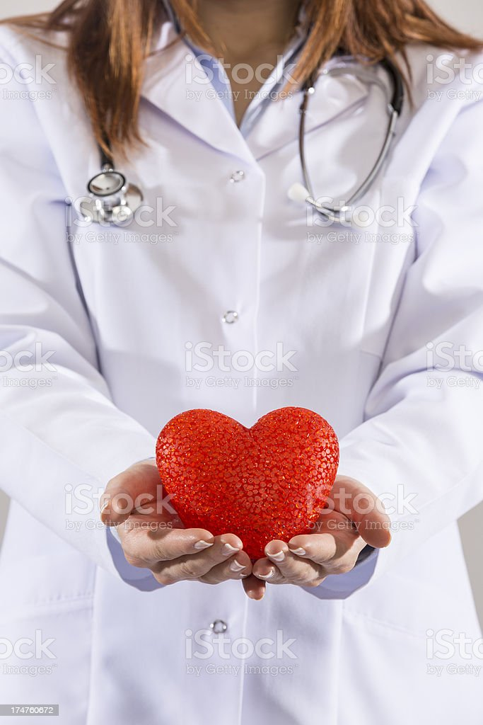 your heart health in right hands royalty-free stock photo